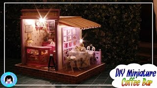 DIY! Miniature Doll Coffee Bar~lights & music~customized! ミニチュアドールハウス 소형 인형의 집★ DARLINGDOLLS