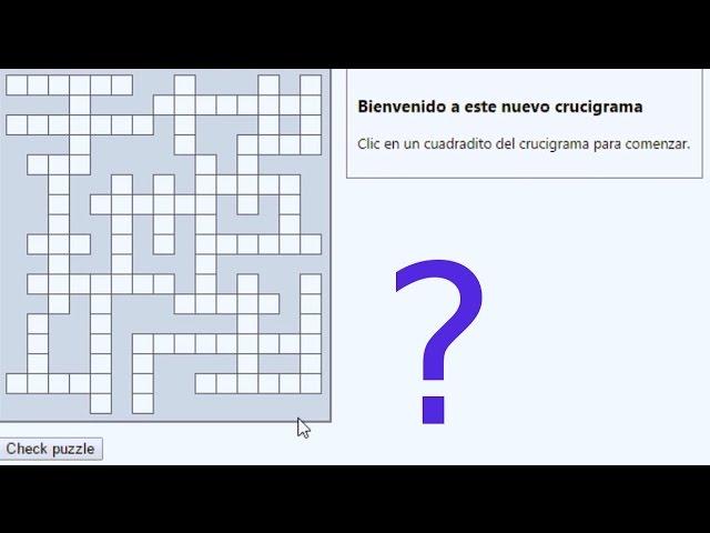 Crucigrama Para Aprender Preguntas Y Respuestas Youtube