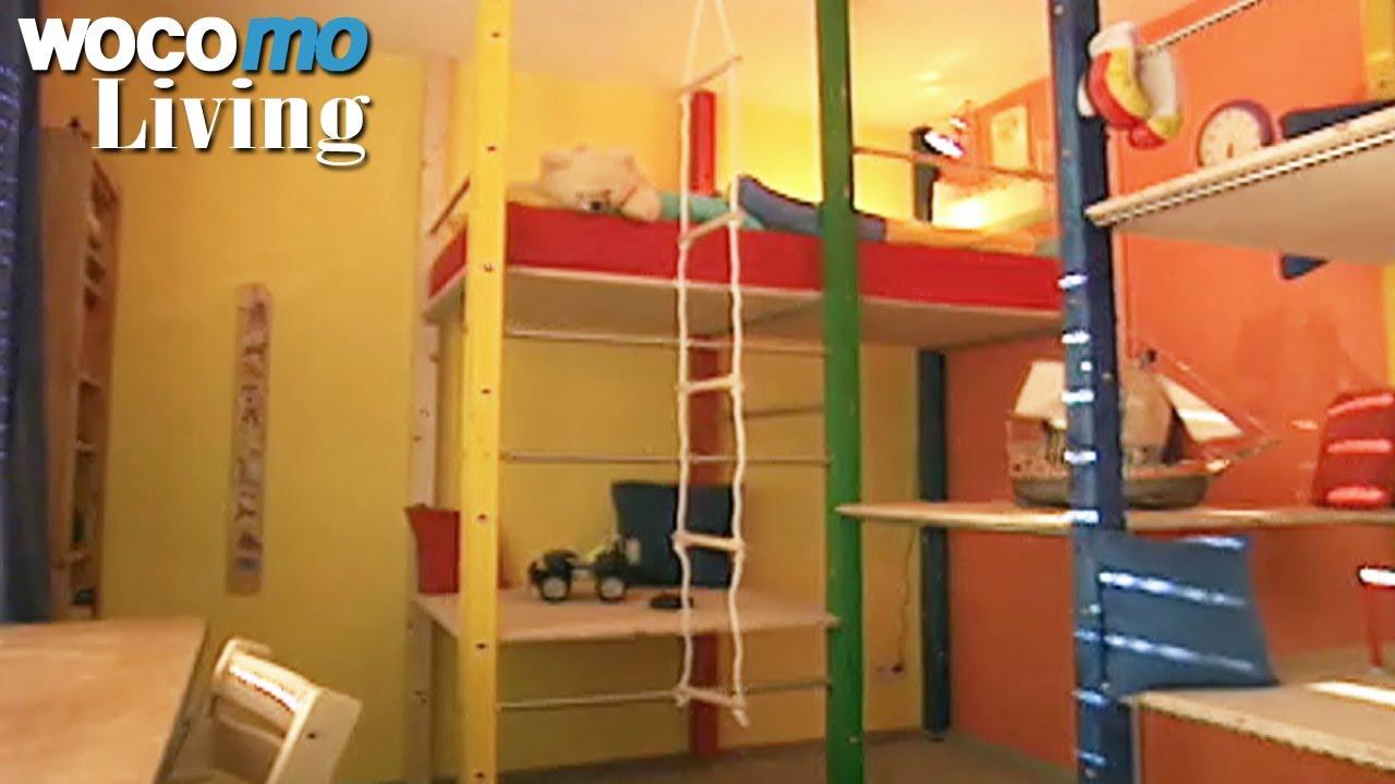 Klettergerüst Für Kinderzimmer Selber Bauen : Klettergerüst im kinderzimmer gestalten tapetenwechsel br
