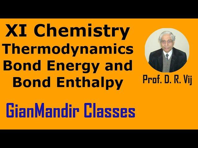 XI Chemistry | Thermodynamics | Bond Energy and Bond Enthalpy by Ruchi Ma'am