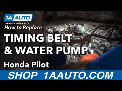 How to Replace Timing Belt with Water Pump 05-12 Honda Pilot