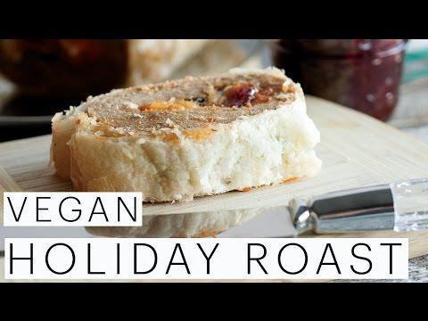 Holiday Menu Ideas | VEGAN Vegetarian Holiday Roast Recipe | Seitan | Sweet Potato Mash | Edgy Veg