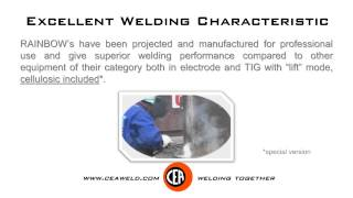 RAINBOW 150 - 180(RAINBOW's, with their lightness, reduced size and their excellent characteristics il electrode MMA and TIG welding with