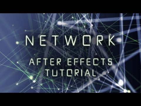 Dots & Lines Network - After Effects Tutorial