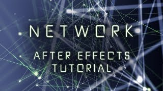 Dots Lines Network After Effects Tutorial