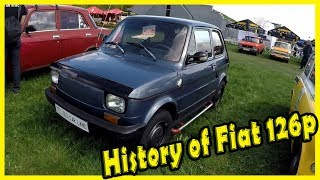 Old Small Italian Car FIAT 126p Review. Vintage Car from the 70s. Old Car Land 2018