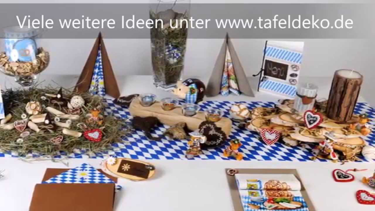 bayrische tischdeko ideen oktoberfest youtube. Black Bedroom Furniture Sets. Home Design Ideas