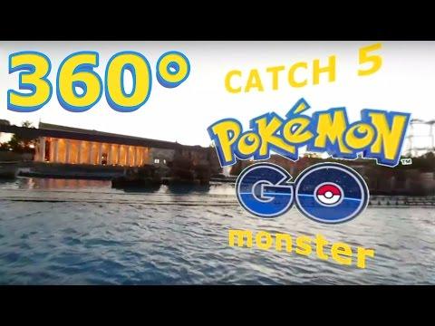 Pokemon GO in 360 VR sunset water rafting Amusement ride