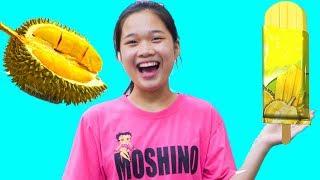 Cách Làm Kem Sầu Riêng Siêu Ngon ❤ Đồ Chơi Máy Làm Kem Tự Động - Trang Vlog