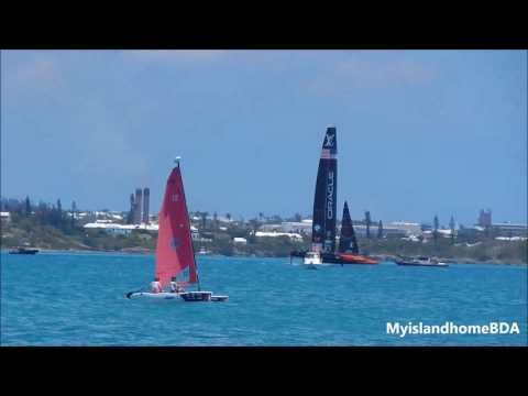 Oracle Team USA and Emirates Team New Zealand practicing 6.22.17   2