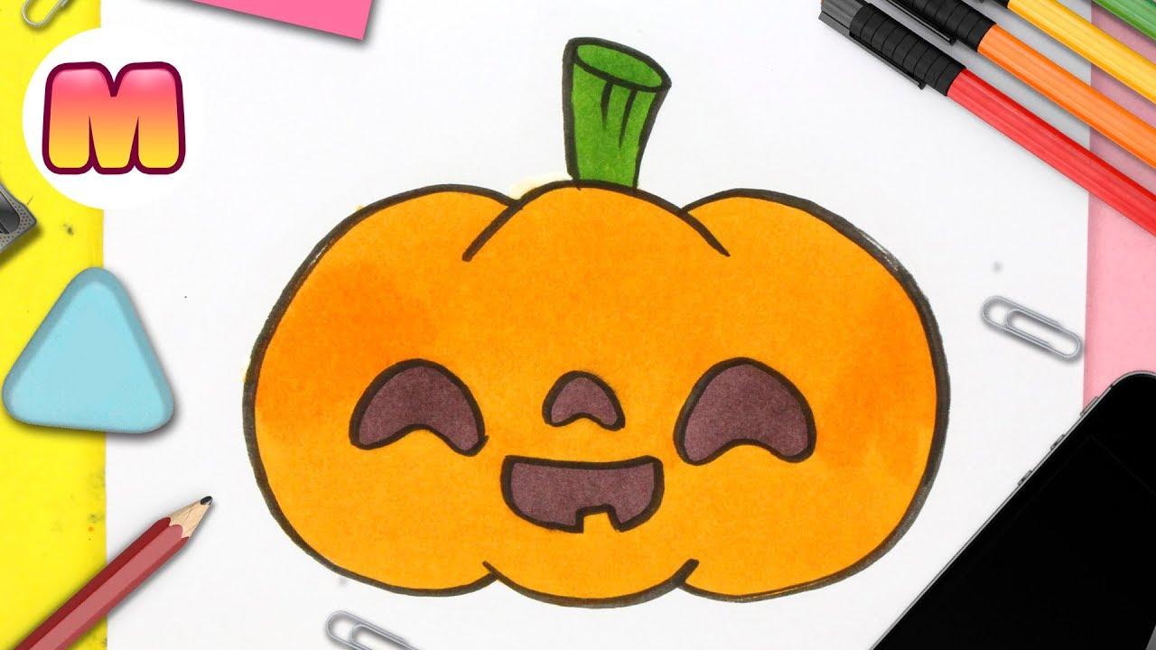 Como Dibujar Una Calabaza De Halloween Kawaii Como Dibujar Halloween Kawaii Youtube