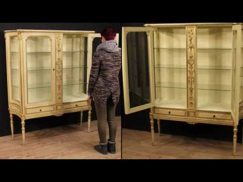 Italian showcase of mid-twentieth century. Antiques and decorative shop online
