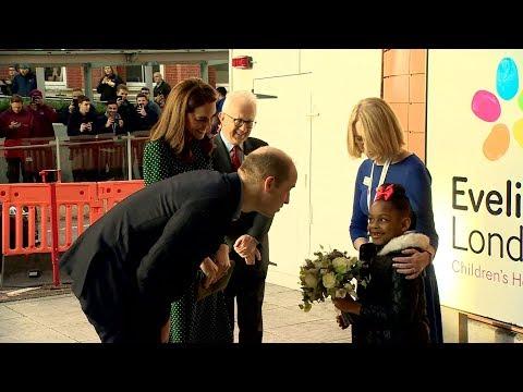 William and Kate visit Evelina London Children's Hospital