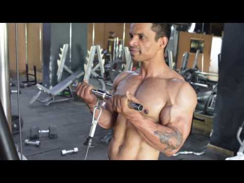 How to do Standing Bicep Cable Curl exactly Biceps Workout