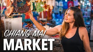 BEST MARKET IN CHIANG MAI THAILAND - Sunday Night Market & Walking Street
