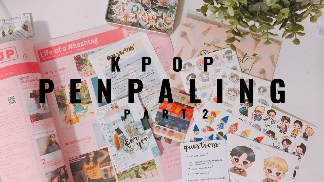 📝 kpop penpaling : part 2 📮 | how to find a penpal + how to make an easy  letter