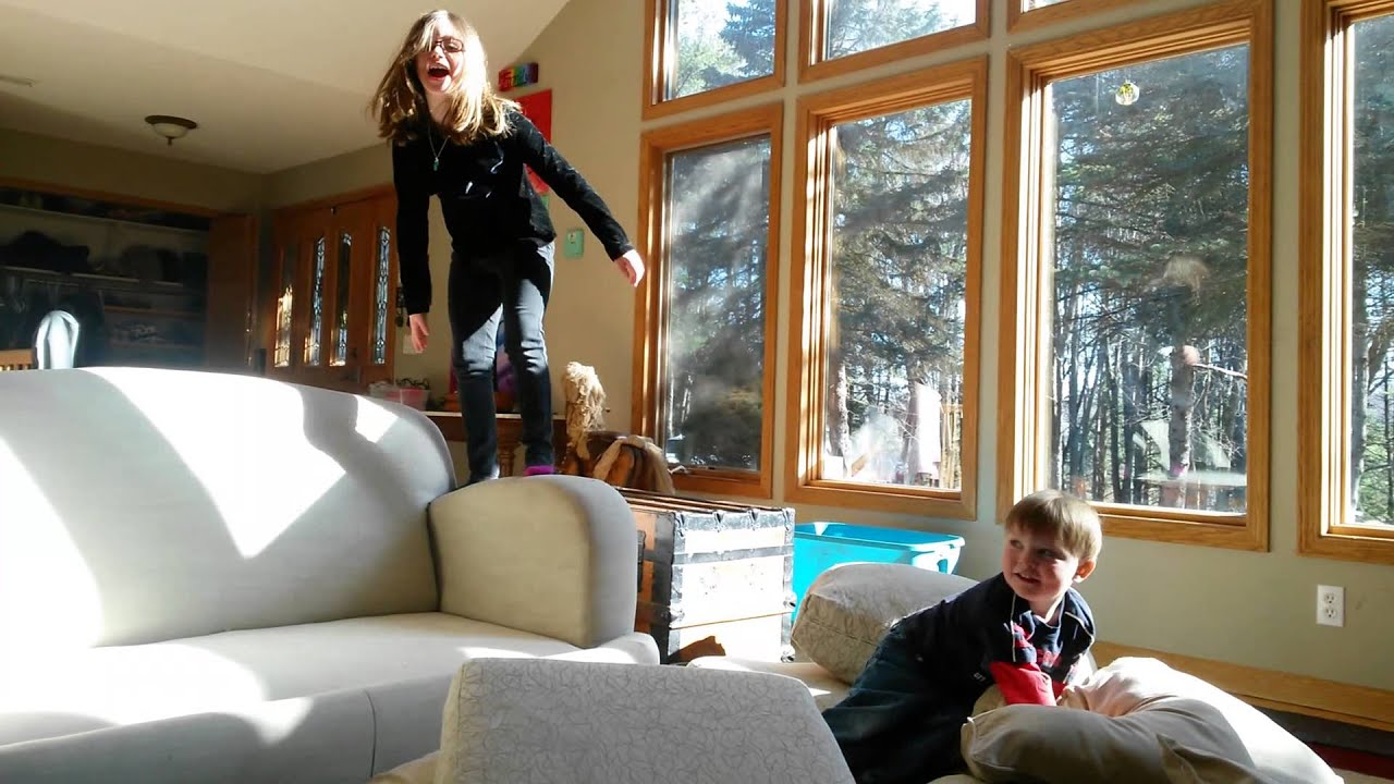 Screaming Kids Jumping Off The Couch YouTube