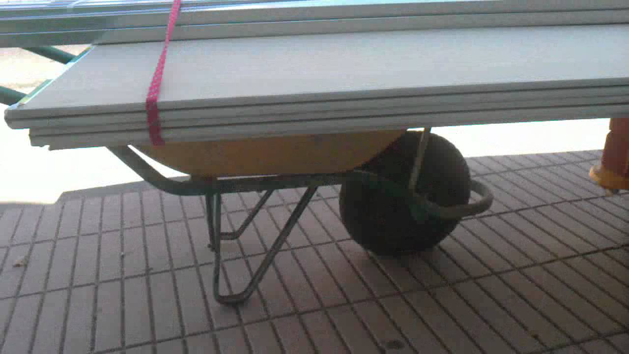 miguel y gaby instalache improvisado para transportar