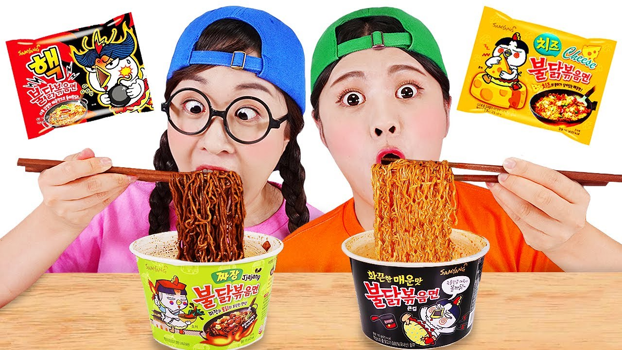 Download 불닭볶음면 먹방 Mukbang Fire Spicy Noodle DONA 도나