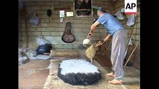 The ancient art of felt rug making