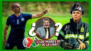 ¡Los 9 PEORES ENTRENADORES de la Liga MX! ¡Más HUMO qué RESULTADOS!