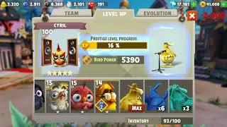 Angry Birds Evolution: 5Star Bird at level 100, Prestige Leveling Unlocked