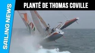 L'incroyable planté de Thomas Coville sur Sodebo au départ de Ouessant