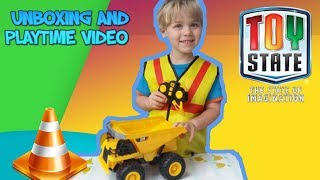 Construction Toys For Kids: Cat Caterpillar Construction Rc Dump Truck & Execuvator Toy State