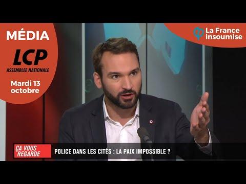 """UGO BERNALICIS INVITÉ DE """"ÇA VOUS REGARDE"""" - POLICE DANS LES CITÉS : LA PAIX IMPOSSIBLE"""