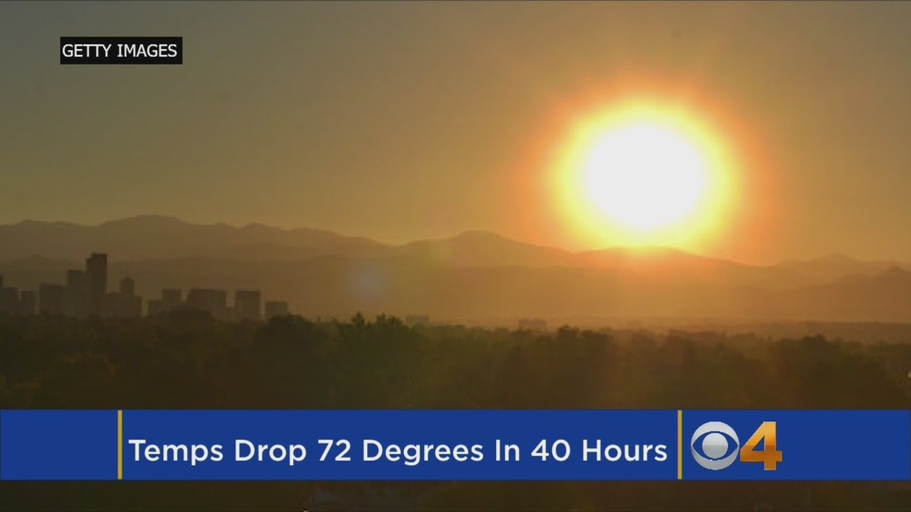 Denver will see a 50-degree drop in temperatures within just 24 hours