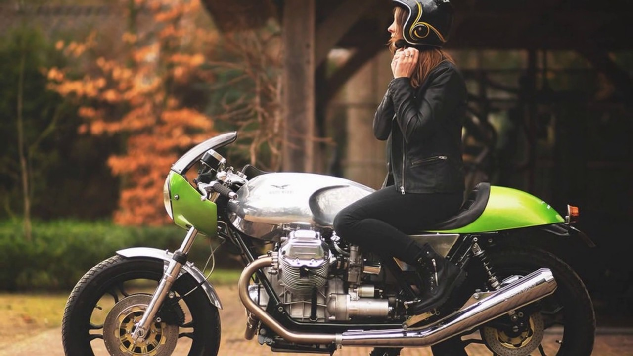 Wonderful Green Moto Guzzi Le Mans 850 Cafe Racer Youtube