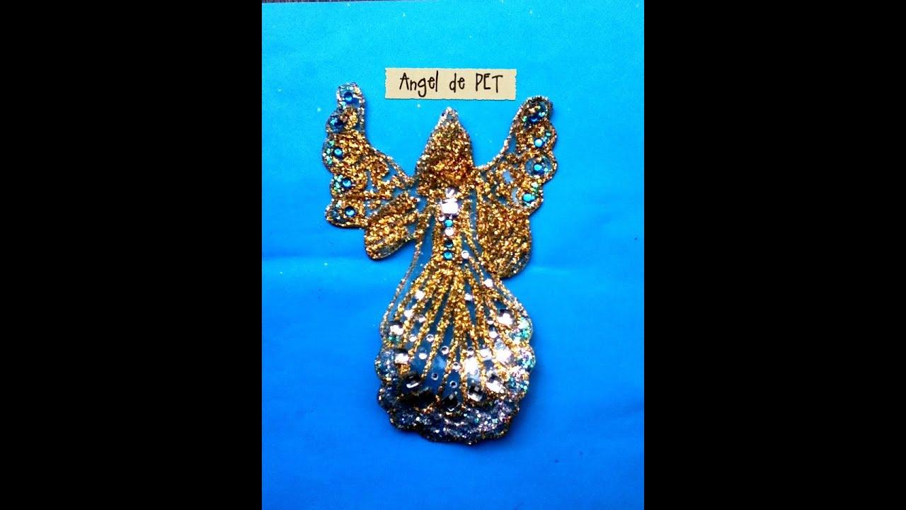 diy ngel de pet botella reciclaje colgante para rbol navidad ornament tree christmas