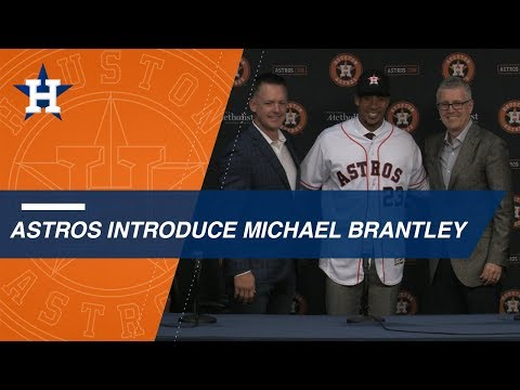 Michael Brantley officially introduced by Astros