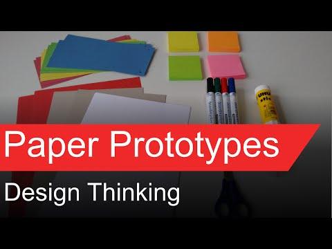 Design Thinking - Paper Prototypes
