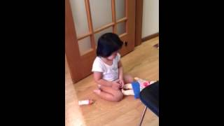 aichanel 9 15 2014 bebe s playing w her own baby popo c