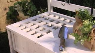 Coral Coast Gardener's Choice White Wash Potting Bench - Product Review Video