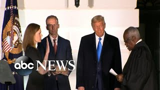 ABC News Live Update: Amy Coney Barrett takes oath to become Supreme Court justice