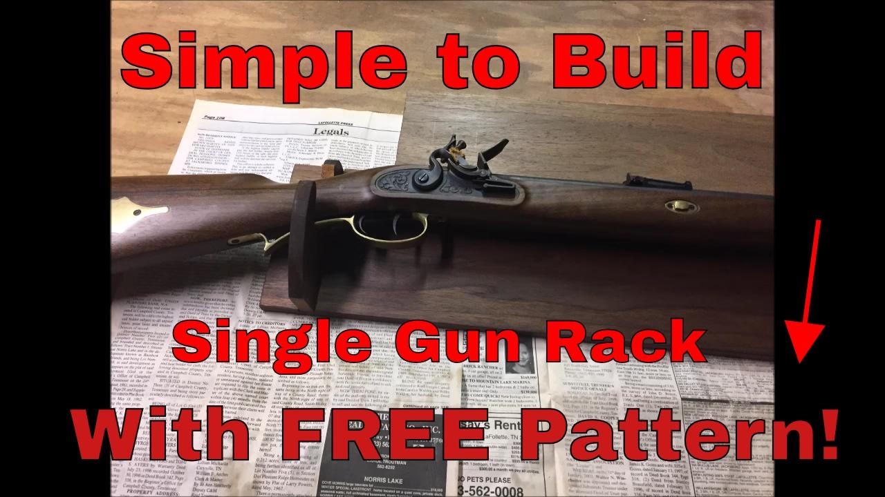 DIY Single Gun Rack  YouTube