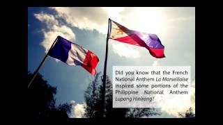 French and Philippine national anthems