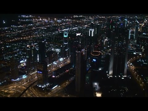 """Burj Khalifa """"At The Top"""" Observation Deck At Night (Complete Experience) (full HD)"""