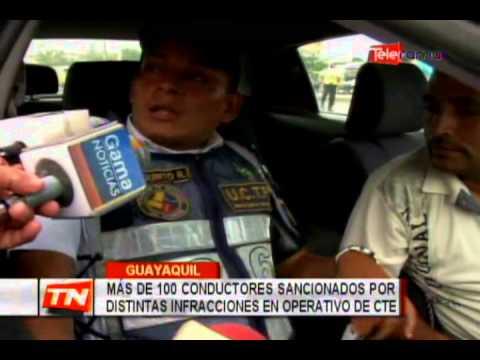 Más de 100 conductores sancionados por distintas infracciones en operativo de CTE