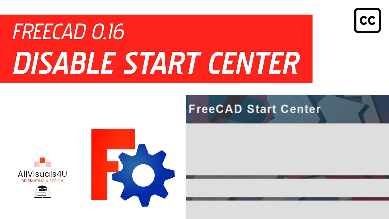FreeCAD Tutorial - General #1 - How to disable the FreeCAD