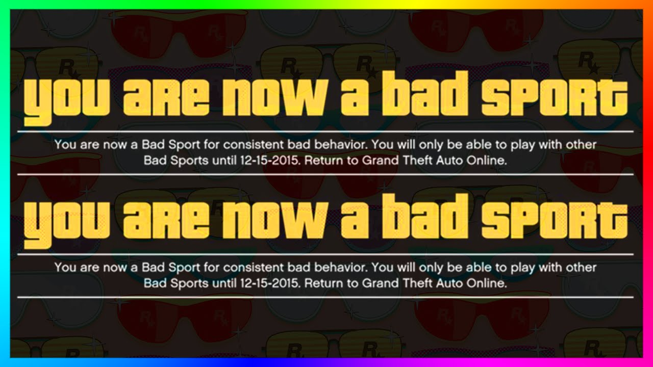 Bad online  GTA 5 - NEW Stricter Cheater Pool & Bad Sport Lobby Coming Soon To ...