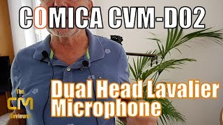 Comica CVM-D02 Test: How works a Dual Head Lavalier Microphone? (Han...