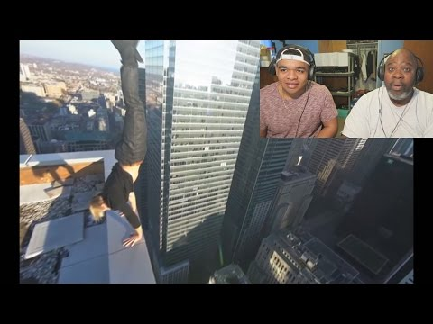 Dad Reacts to People at the top of Toronto!