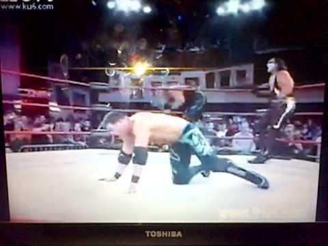 Tna Samoa Joe and Aj Styles vs Kevin Nash and Sting Las Vegas HQ
