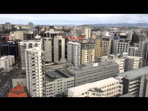 View from tallest tower crane in auckland.