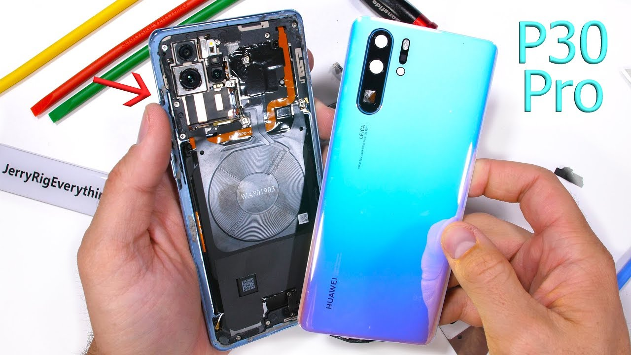 Periscope camera taken apart in teardown video] Huawei P30 Pro put