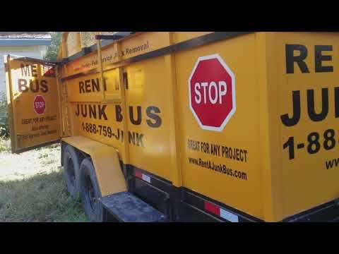 22 Yard dumpster rental on Wheels Slidell, La New Years Weekend