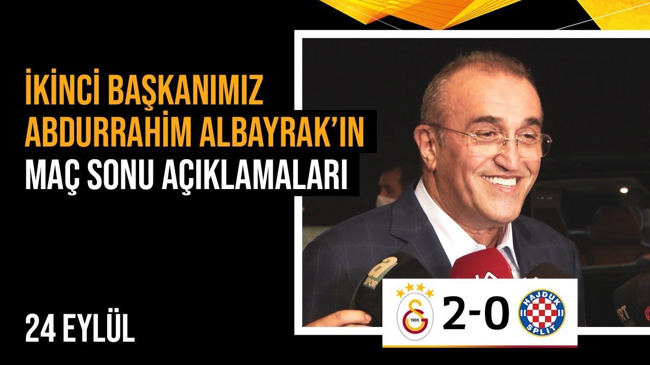📸 İkinci başkanımız Abdurrahim Albayrak'ın maç sonu açıklamaları. | #GSvHAJ #UEL